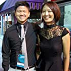 """With Editor/Camera Operator, Taylor Chan, of Wong Fu Productions at After Party for """"Everything Before Us."""""""