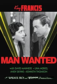 Man Wanted (1932) Poster - Movie Forum, Cast, Reviews