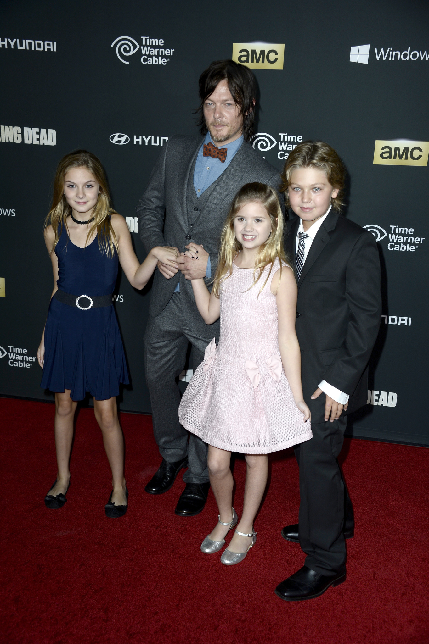 Norman Reedus, Kyla Kenedy, and Brighton Sharbino at an event for The Walking Dead (2010)