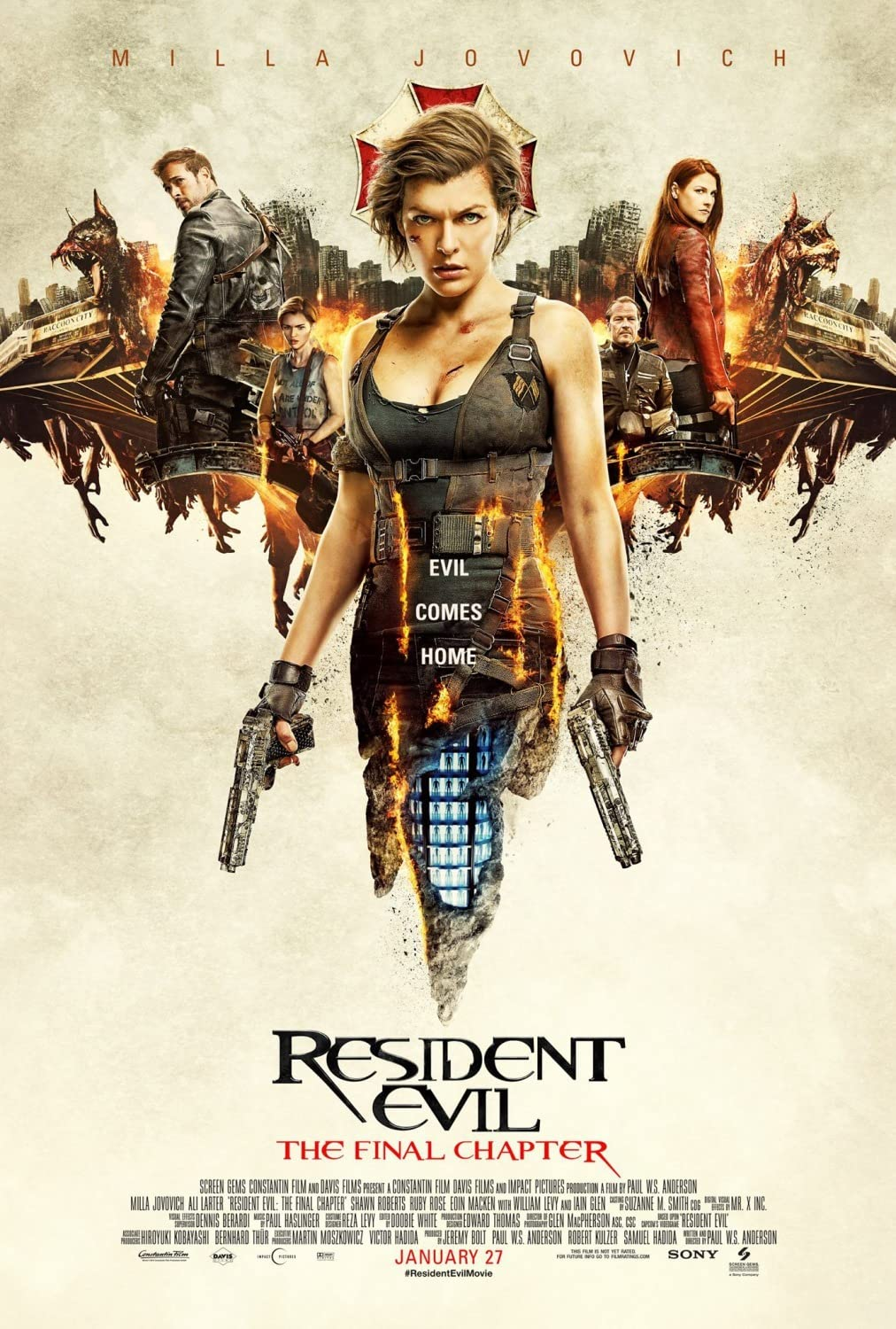 Resident Evil: The Final Chapter (2016) Hindi Dubbed