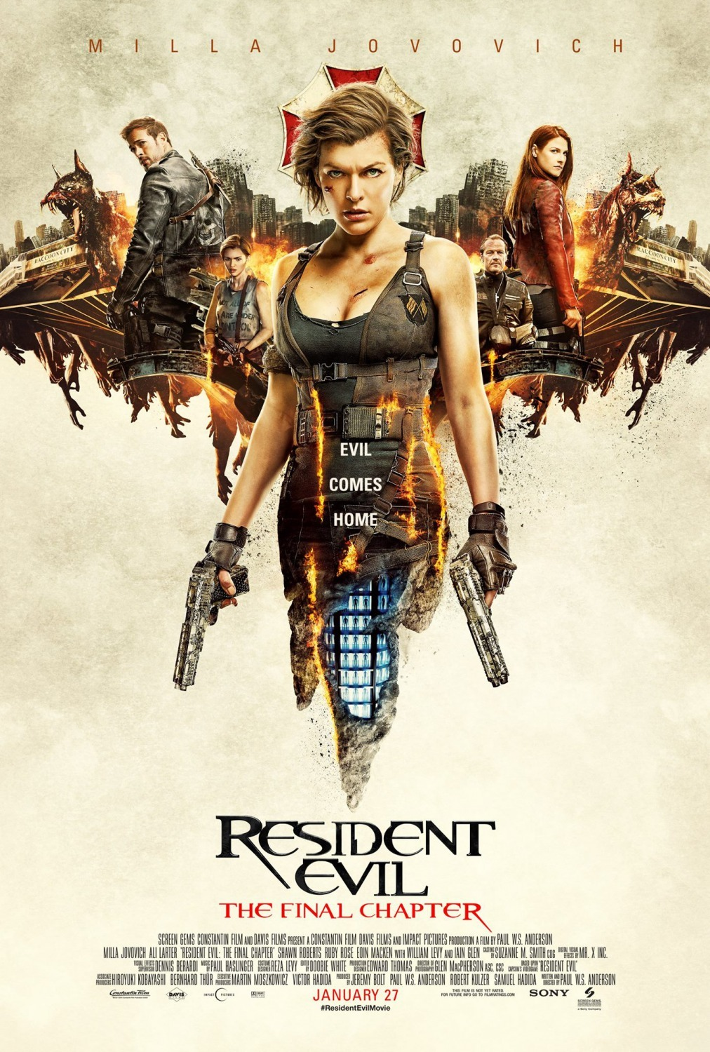 Resident Evil: The Final Chapter (2016) Dual Audio [Hindi+English] Full Movie 480p, 720p Download