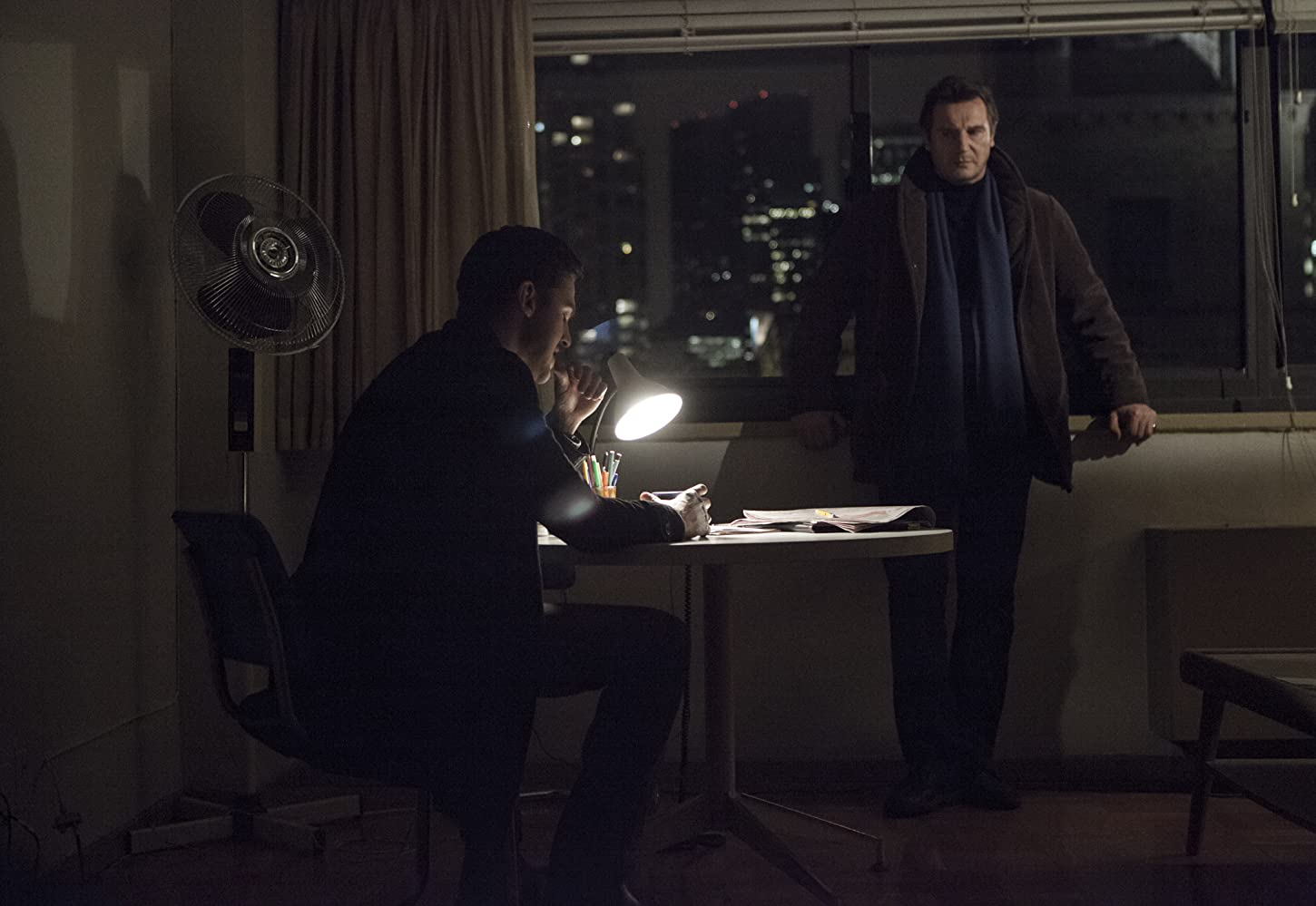 Liam Neeson and Dan Stevens in A Walk Among the Tombstones (2014)