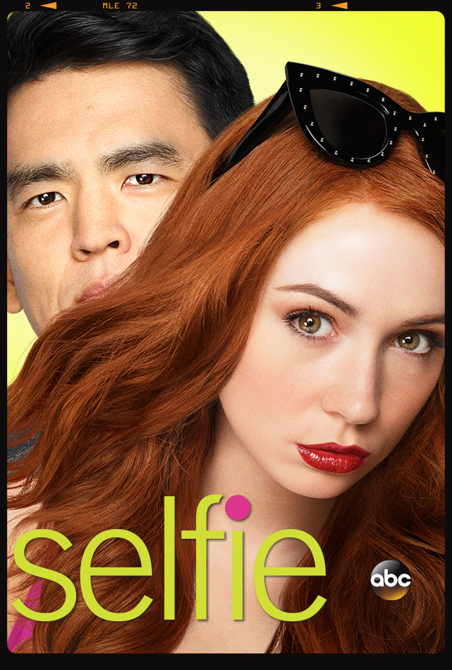 John Cho and Karen Gillan in Selfie (2014)
