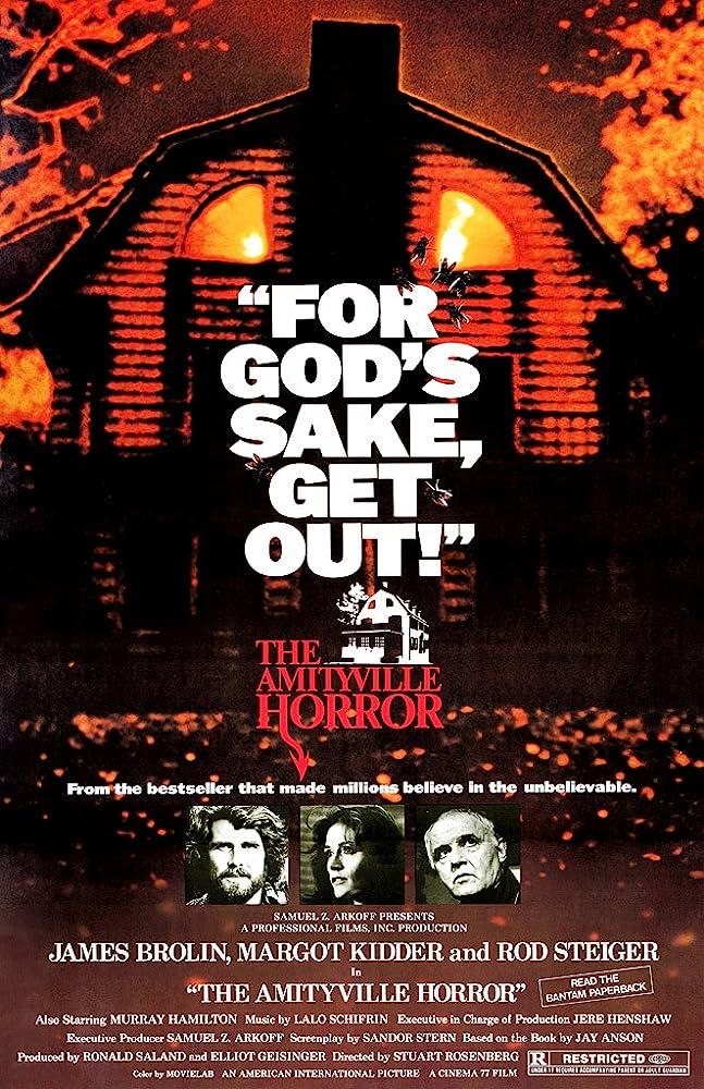 James Brolin, Rod Steiger, and Margot Kidder in The Amityville Horror (1979)