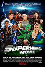 Pamela Anderson, Leslie Nielsen, Simon Rex, Drake Bell, and Regina Hall in Superhero Movie (2008)