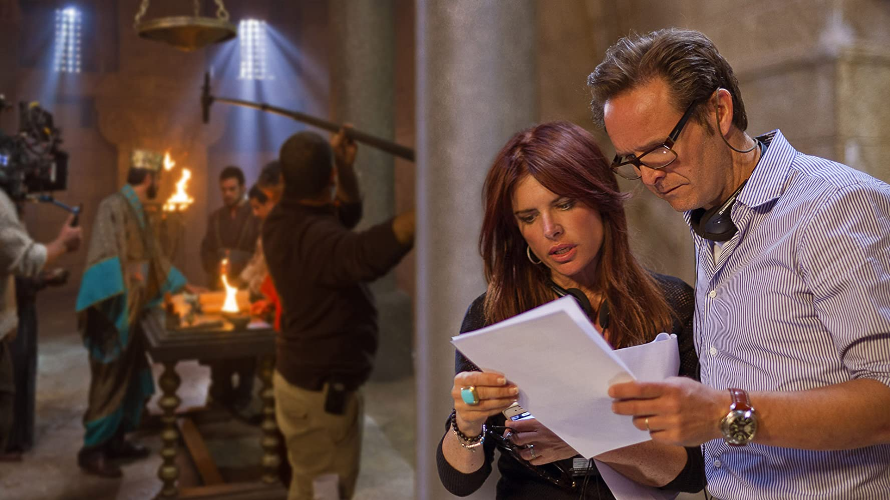 Roma Downey and Mark Burnett in The Bible (2013)