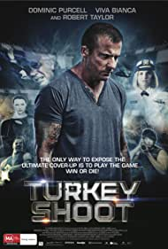 Belinda McClory, Dominic Purcell, and Viva Bianca in Turkey Shoot (2014)