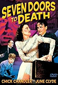 Rebel Randall, Chick Chandler, June Clyde, and Gregory Gaye in Seven Doors to Death (1944)