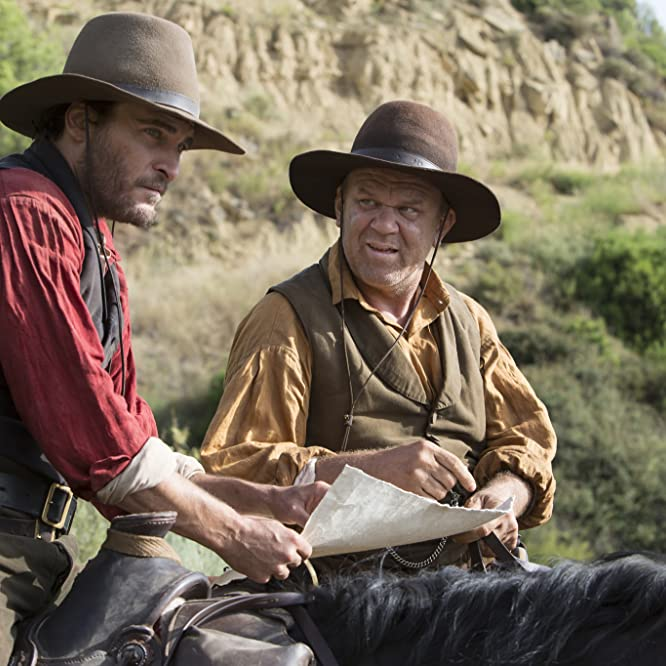 John C. Reilly and Joaquin Phoenix in The Sisters Brothers (2018)