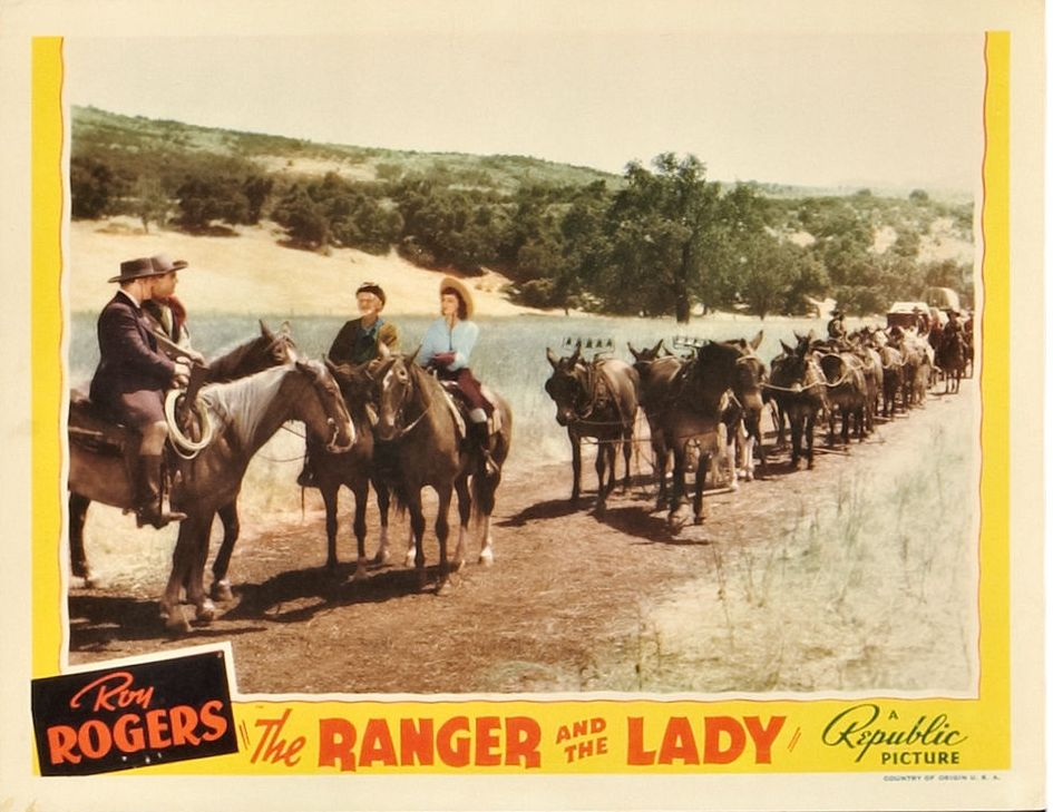 Julie Bishop, Si Jenks, Ted Mapes, and Harry Woods in The Ranger and the Lady (1940)