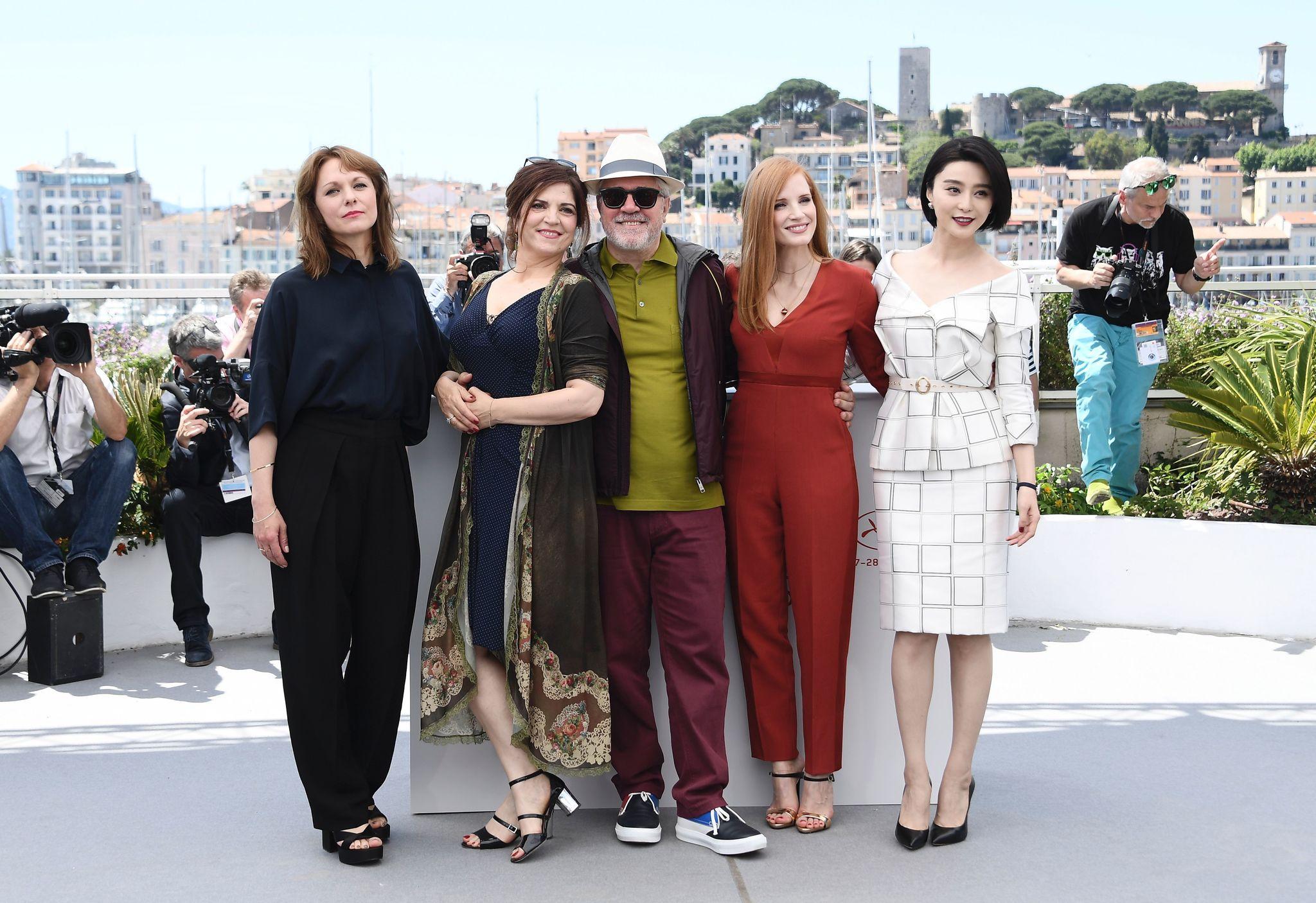Pedro Almodóvar, Maren Ade, Agnès Jaoui, Bingbing Fan, and Jessica Chastain