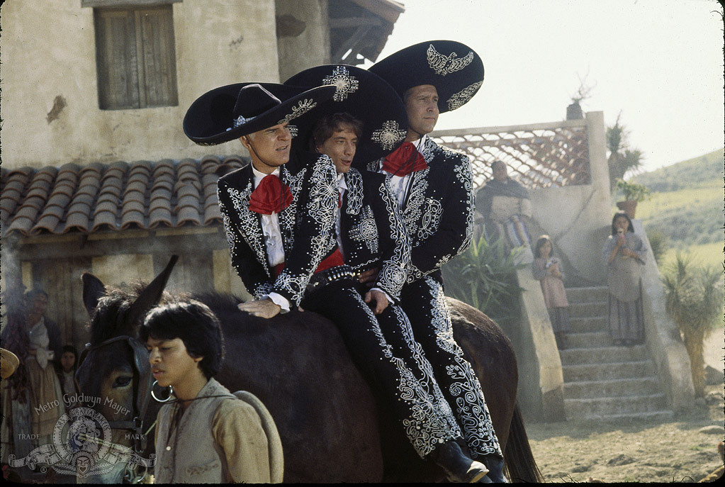 Steve Martin, Chevy Chase, and Martin Short in Three Amigos! (1986)