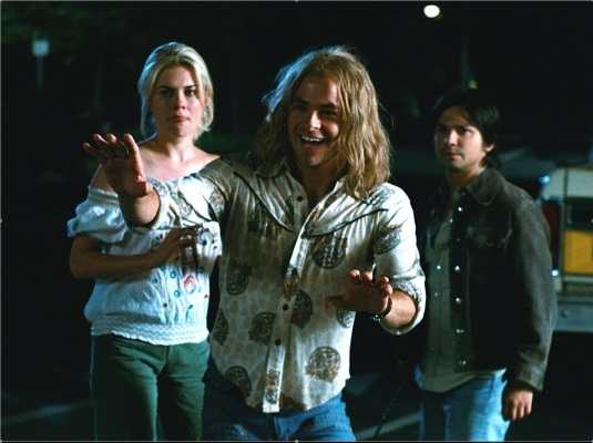 Freddy Rodríguez, Chris Pine, and Rachael Taylor in Bottle Shock (2008)