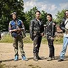 John Patrick Hayden, Kevin Interdonato, Jimmy Doom, Michael Dault, and Otis Bassett in Land of the Outlaws (2018)