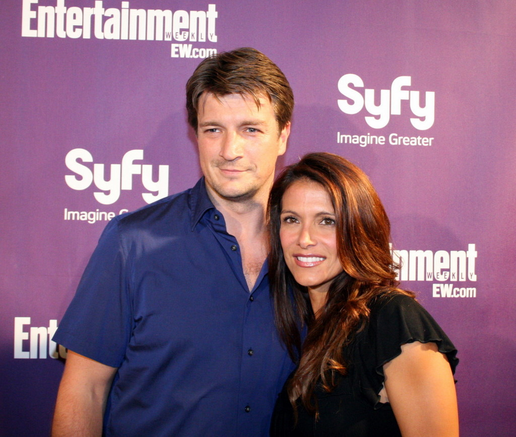 Nathan Fillion and Darla Delgado