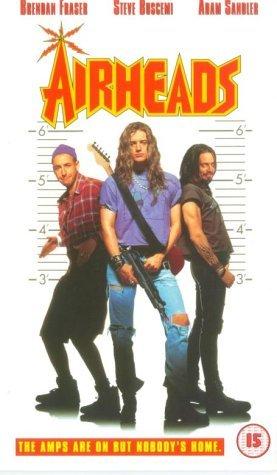 Steve Buscemi, Brendan Fraser, and Adam Sandler in Airheads (1994)
