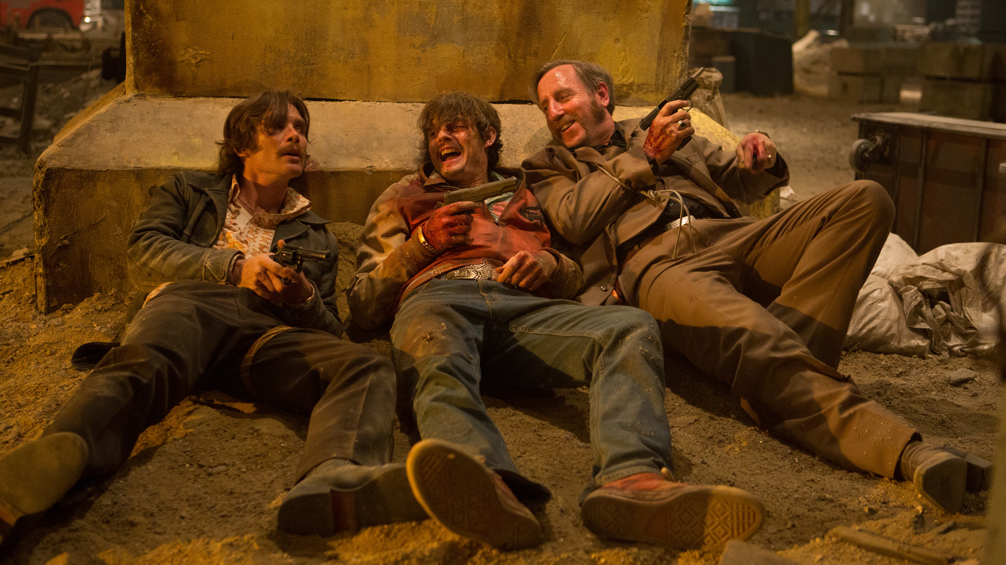Cillian Murphy, Sam Riley, and Michael Smiley in Free Fire (2016)