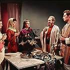 Charlton Heston, Haya Harareet, Sam Jaffe, Cathy O'Donnell, and Martha Scott in Ben-Hur (1959)
