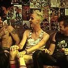 (from left) Kujo (Adam Goldberg), Creeper (Ricky Trammell) and Danny (Val Kilmer) at the tweaker party.