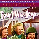 Kay Francis, Carole Landis, Mitzi Mayfair, Martha Raye, and Phil Silvers in Four Jills in a Jeep (1944)