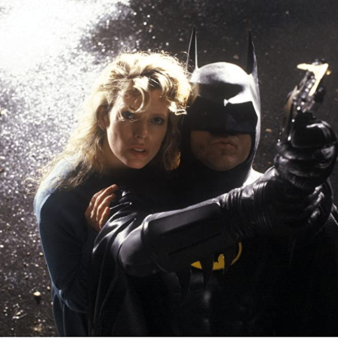 Kim Basinger and Michael Keaton in Batman (1989)