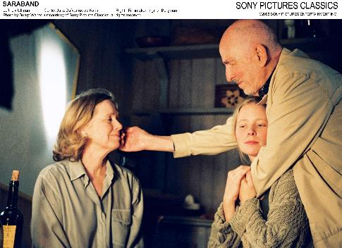 Ingmar Bergman, Julia Dufvenius, and Liv Ullmann in Saraband (2003)