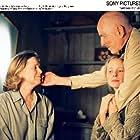 Ingmar Bergman, Julia Dufvenius, and Liv Ullmann in Saraband (2003)