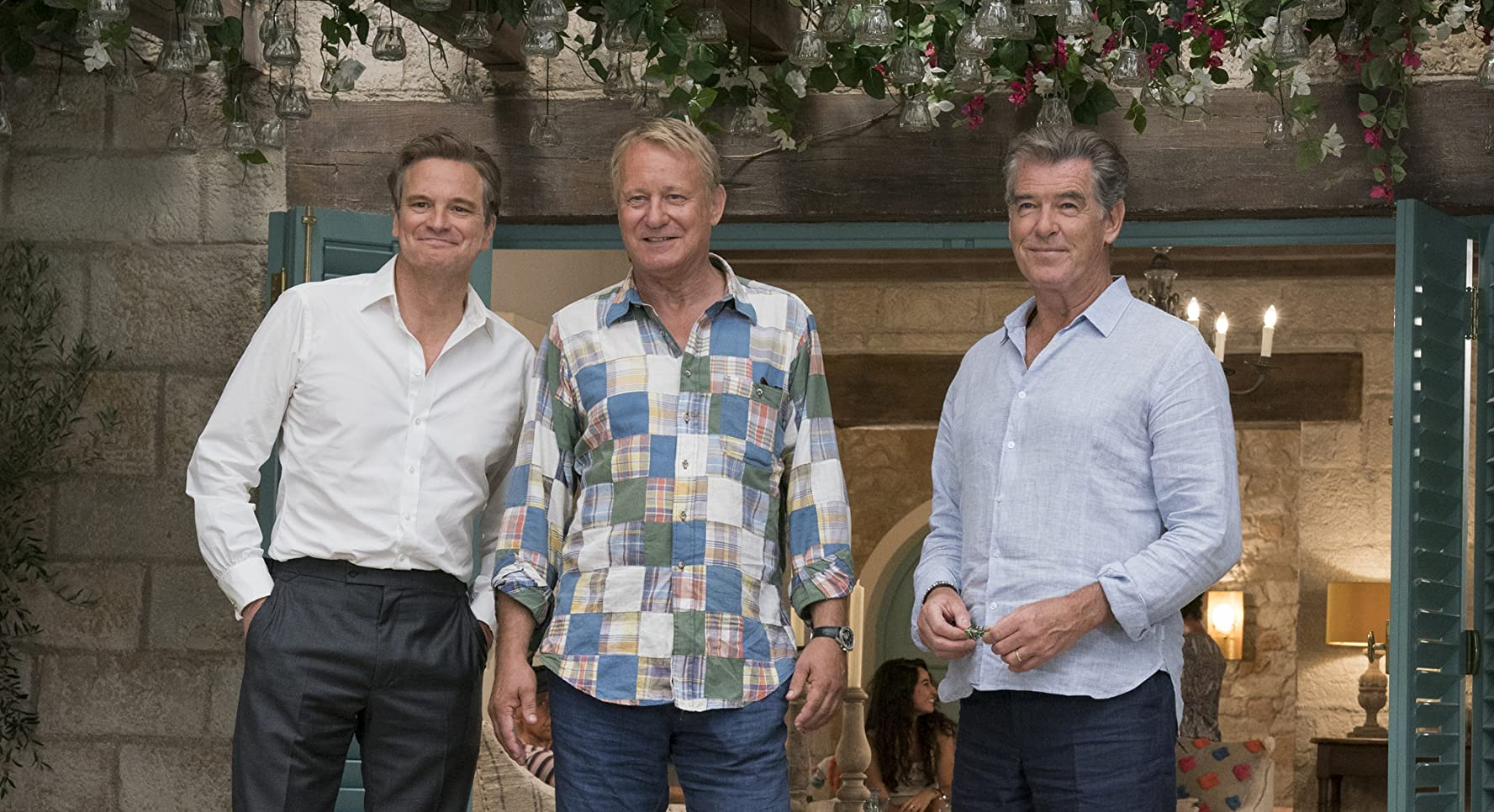 Pierce Brosnan, Colin Firth, and Stellan Skarsgård in Mamma Mia! Here We Go Again (2018)