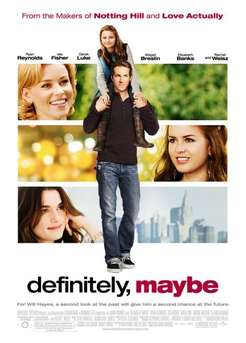 Definitely, Maybe (2008) Dual Audio [Hindi-Eng] 720p BluRay ESubs Download