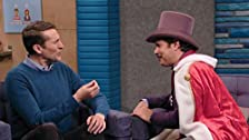 Lord Andrew Lloyd Webber Wears a Purple Top Hat & Fabrice Fabrice Wears One Pink Fur Leg Warmer