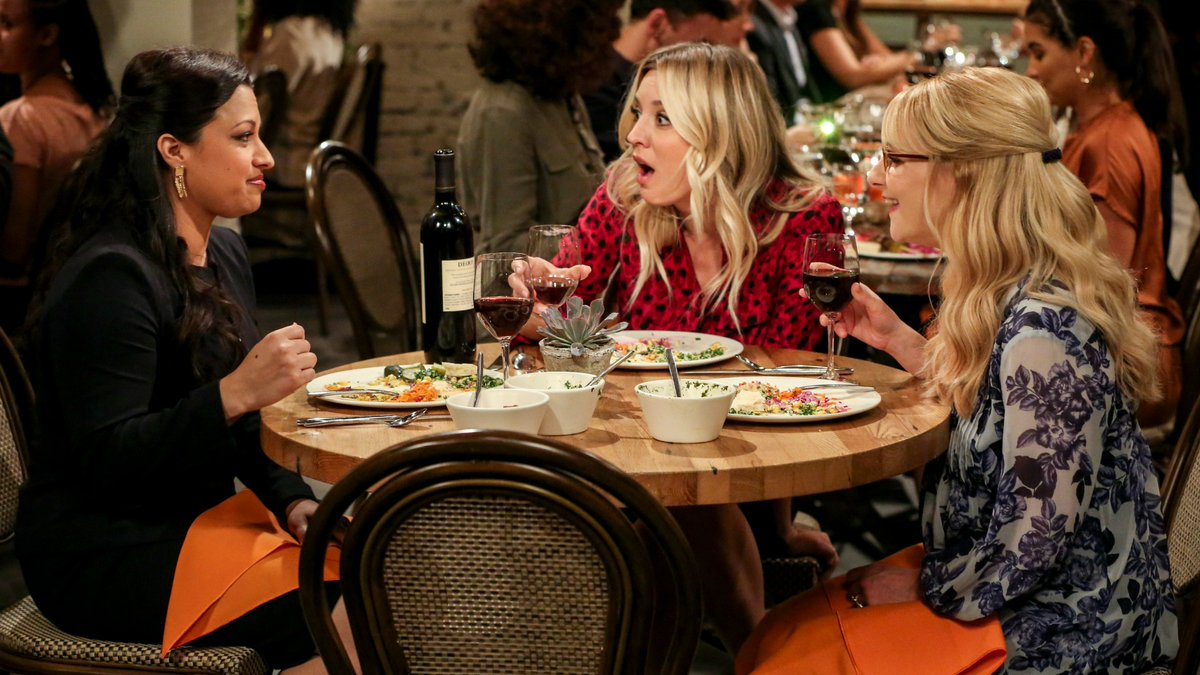 Kaley Cuoco, Melissa Rauch, and Rati Gupta in The Big Bang Theory (2007)