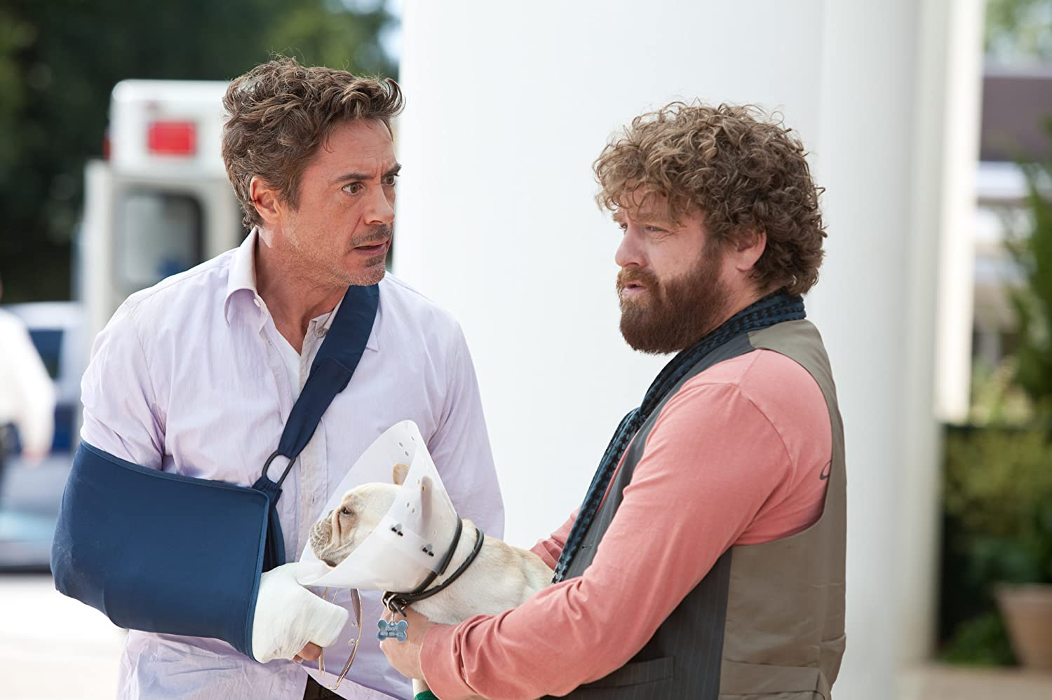 Robert Downey Jr. and Zach Galifianakis in Due Date (2010)