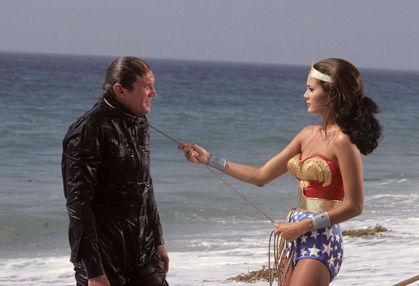 Lynda Carter and James Olson in Wonder Woman (1975)
