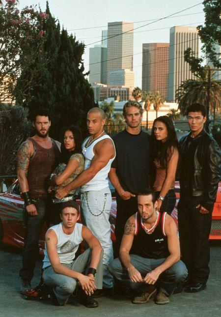 Sederet pemain utama film The Fast adn the Furious.