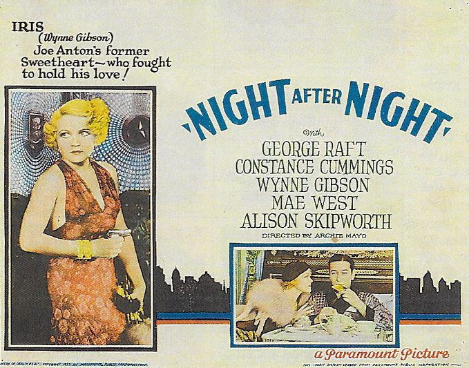 Wynne Gibson and George Raft in Night After Night (1932)