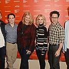 J.J. Abrams, Sarah Gadon, George MacKay, T.R. Knight, Bridget Carpenter, and Daniel Webber at an event for 11.22.63 (2016)