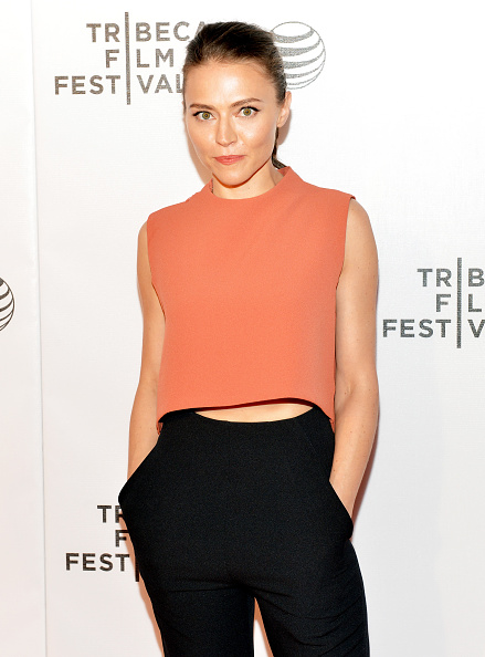 """Trieste Kelly Dunn attends the premier of """"Applesauce"""" during the Tribeca Film Festival at the Regal Battery Park 11 on April 19th, 2015."""