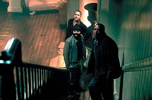 Jared Leto, Forest Whitaker, and Dwight Yoakam in Panic Room (2002)