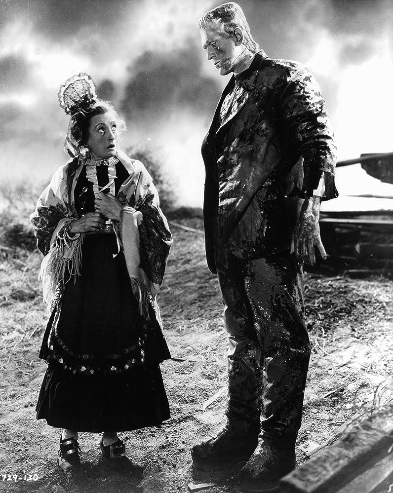 Boris Karloff and Una O'Connor in Bride of Frankenstein (1935)