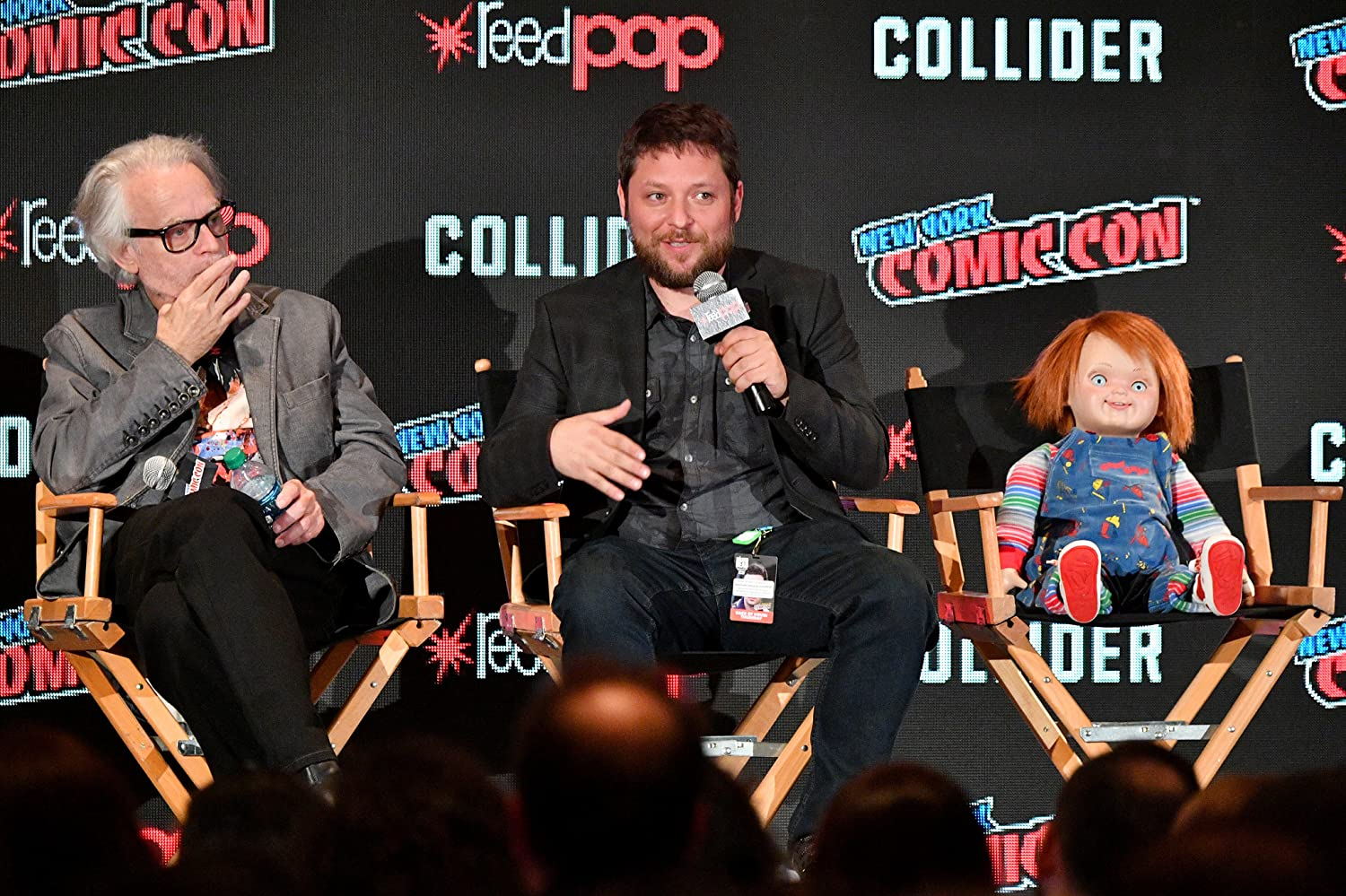 Brad Dourif and Alex Vincent at an event for Cult of Chucky (2017)
