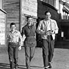 """Doris Day On the set of """"Calamity Jane"""" With son Terry and husband Martin Melcher"""