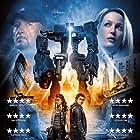 Gillian Anderson, Ben Kingsley, Callan McAuliffe, and Ella Hunt in Robot Overlords (2014)