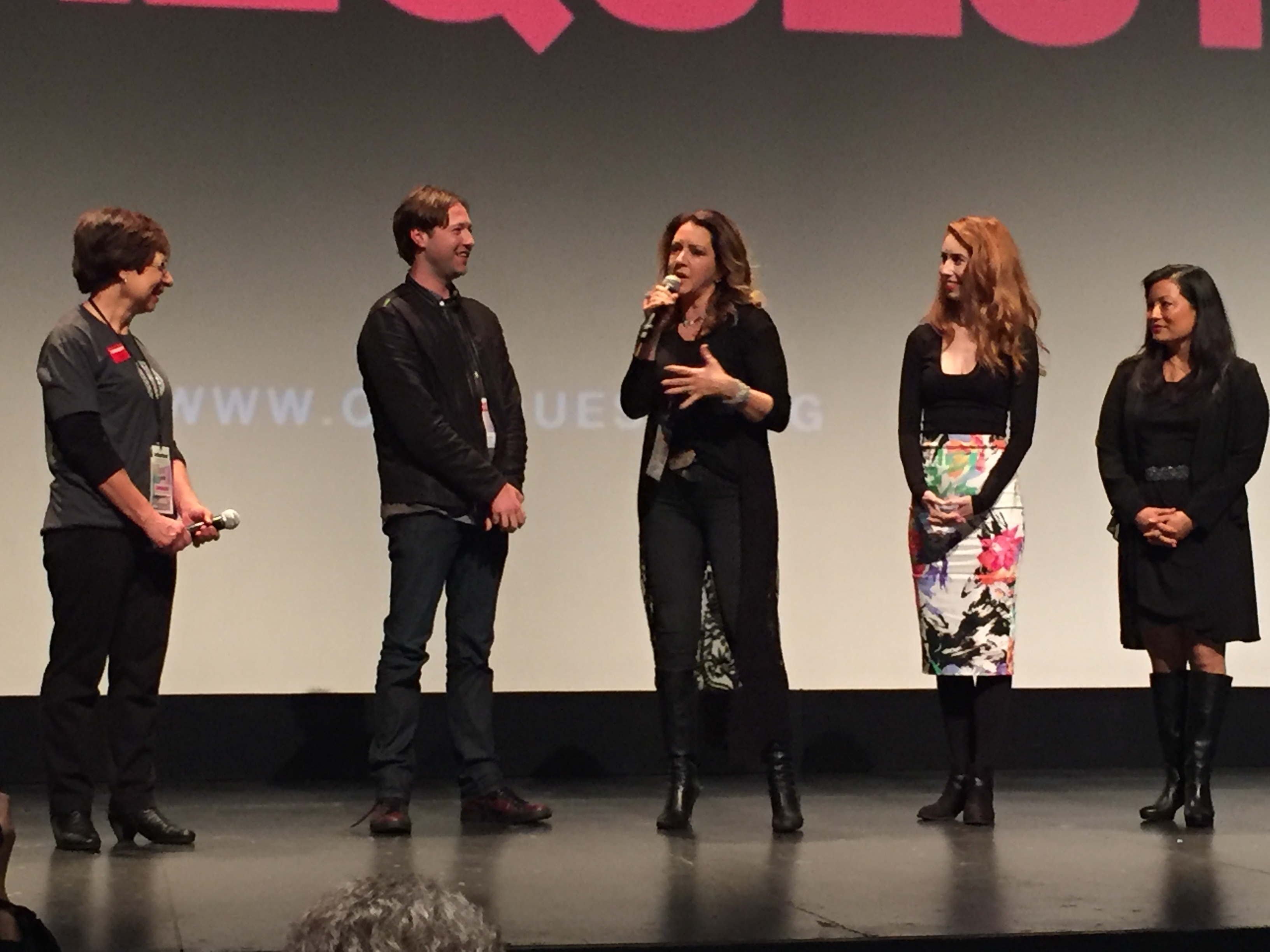 Russell Brown, Joely Fisher, Ayumi Iizuka representing Search Engines at Cinequest