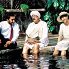 Alec Guinness, Judy Davis, and Victor Banerjee in A Passage to India (1984)