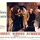 Burt Lancaster, William Conrad, and John Bromfield in Sorry, Wrong Number (1948)