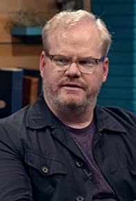 Primary photo for Jim Gaffigan Wears a Blue Jacket & Plum T-Shirt