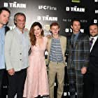 James Marsden, Jack Black, Jarrad Paul, Kathryn Hahn, David Bernad, Andrew Mogel, and Russell Posner at an event for The D Train (2015)
