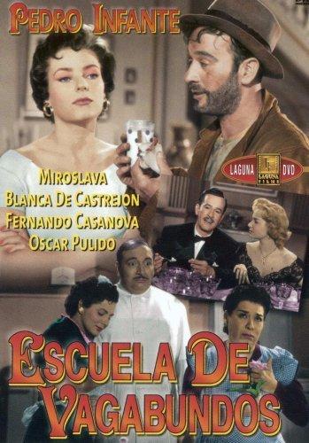Eduardo Alcaraz, Dolores Camarillo, Liliana Durán, Pedro Infante, and Miroslava in Escuela de vagabundos (1955)