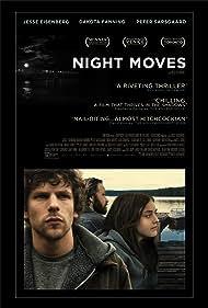 Jesse Eisenberg, Dakota Fanning, and Peter Sarsgaard in Night Moves (2013)