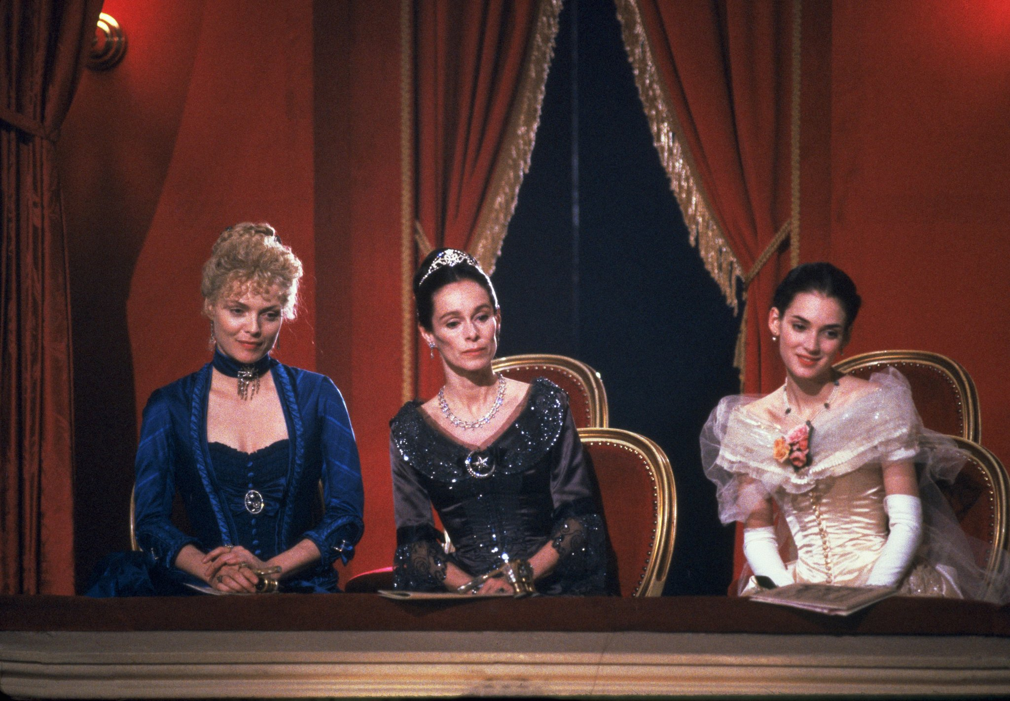Michelle Pfeiffer, Winona Ryder, and Geraldine Chaplin in The Age of Innocence (1993)